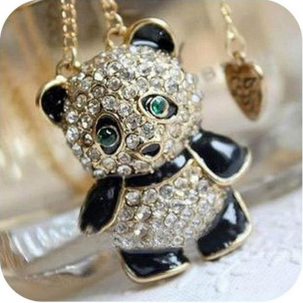 Colar panda thaby store pronta entrega for Jewelry stores in bear delaware